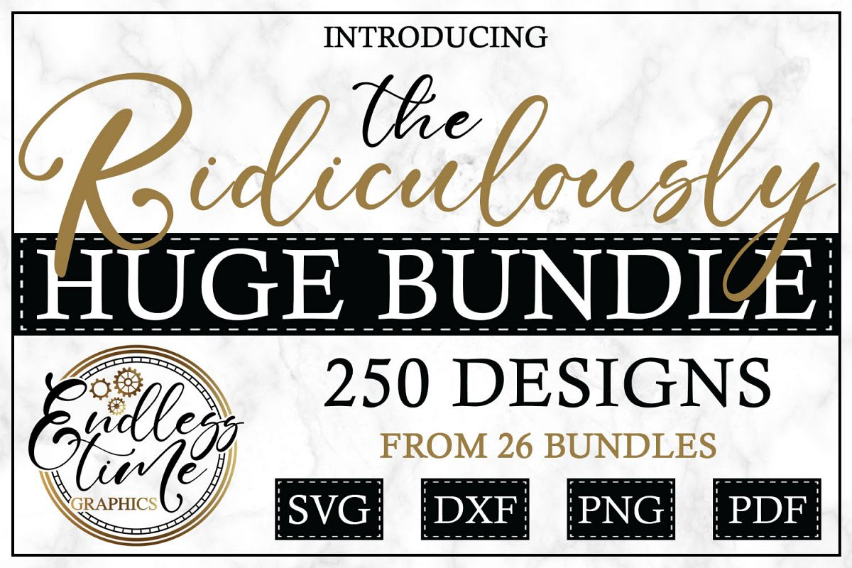 The Ridiculously Huge Bundle SALE - A Massive SVG Collection example image 1