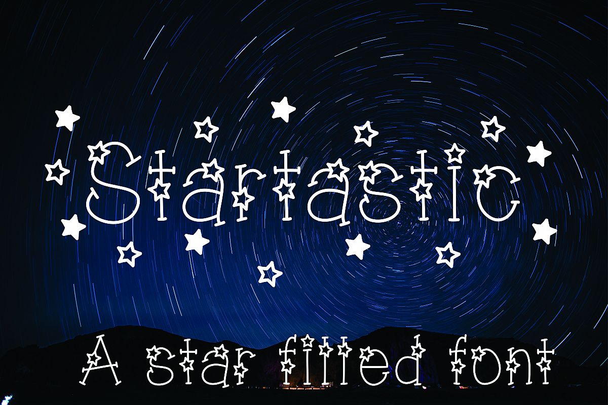 Startastic Hand Lettered Star Font example image 1