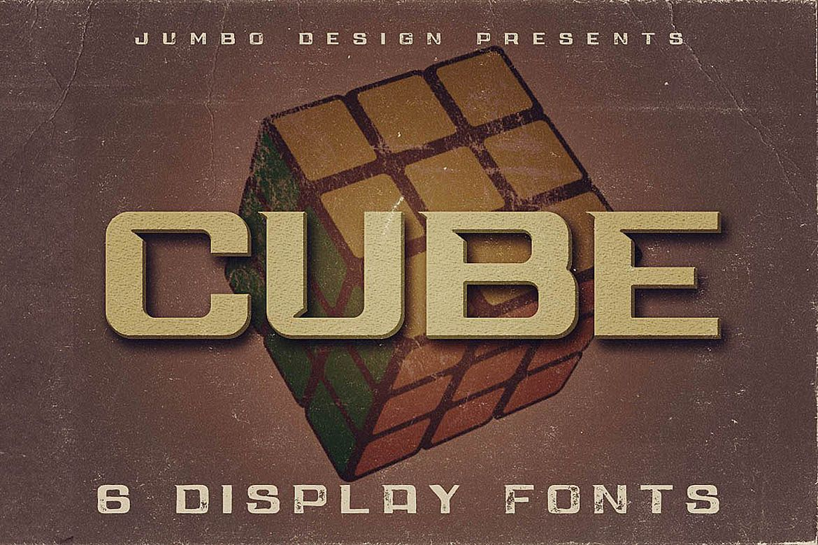 Cube - Display Font example image 1