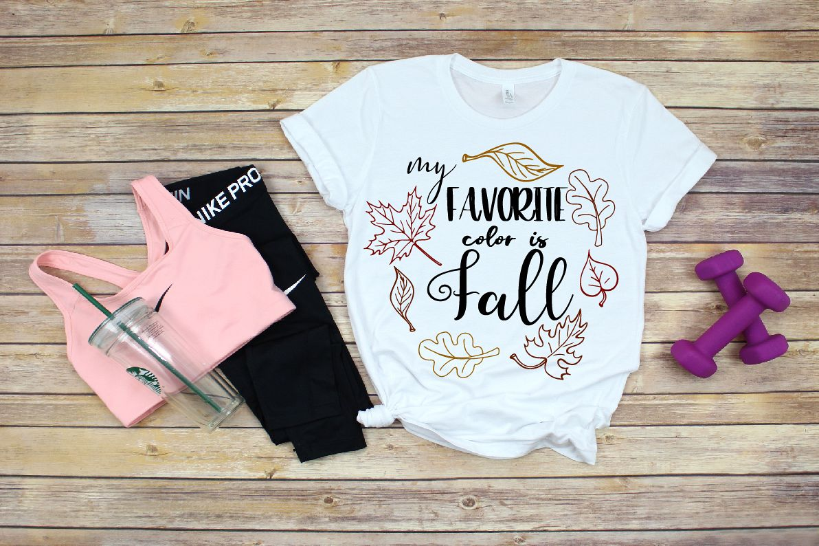 My Favorite Color is Fall, Fall svg, Happy Fall svg example image 1
