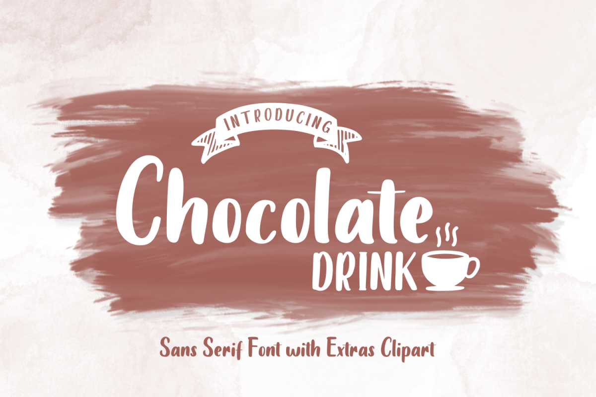 Chocolate DRINK Font example image 1