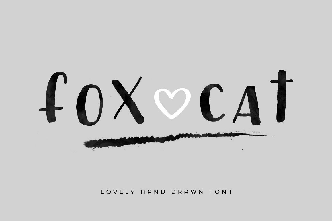 Fox Cat Hand Drawn Font example image 1