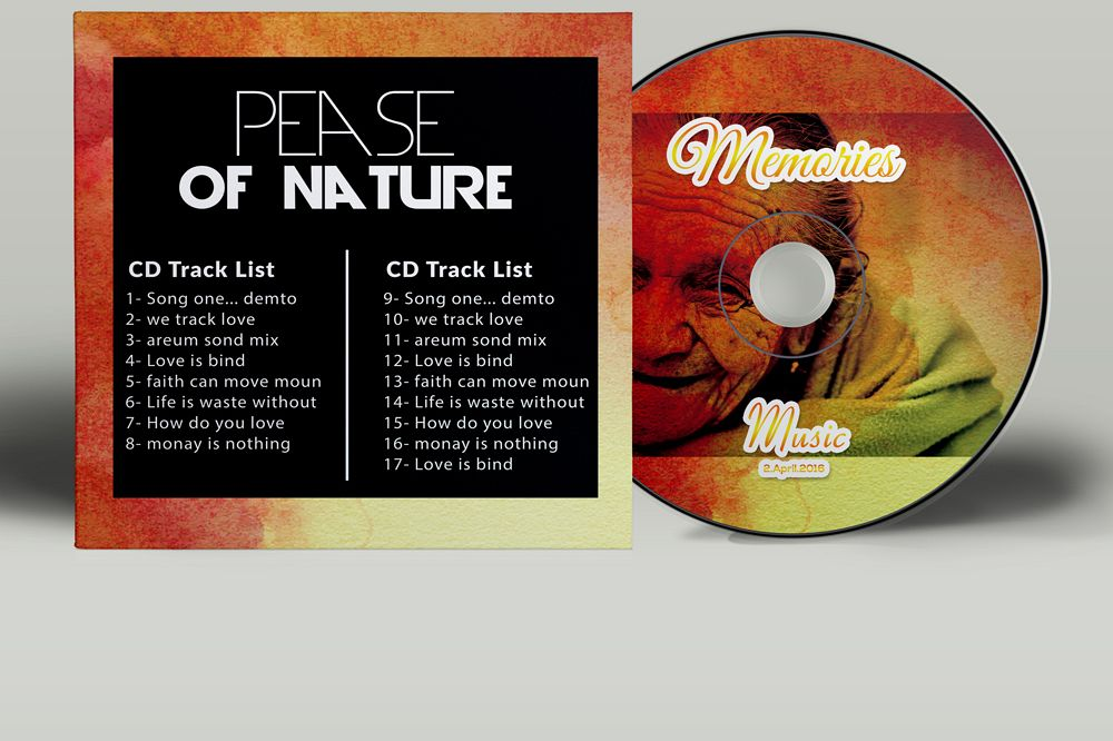 Memory / Memorial CD Covers Templates example image 1