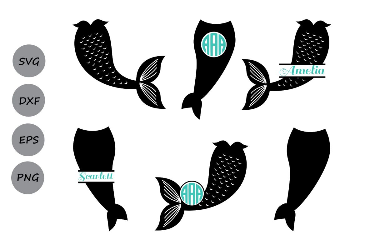 Mermaid Tail Svg Mermaid Monogram Svg Mermaid Svg Mermaid