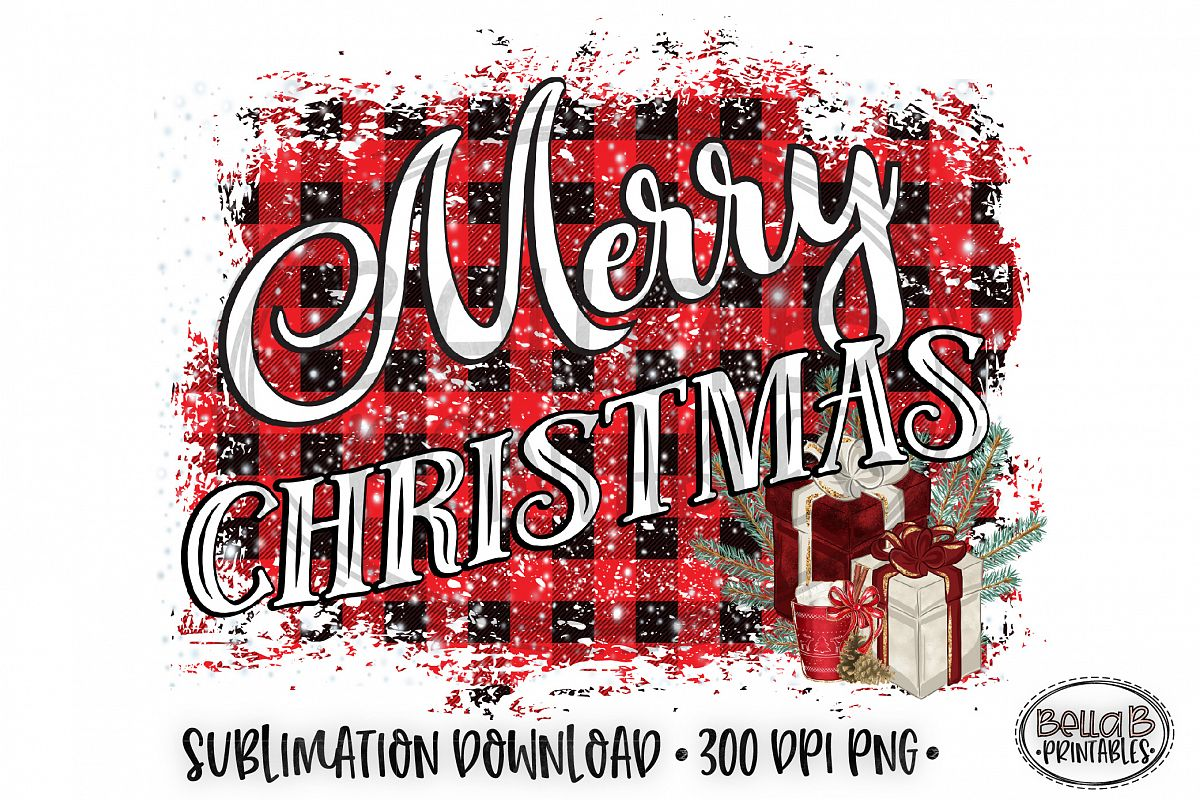Christmas Sublimation Design, Merry Christmas Sublimation example image 1