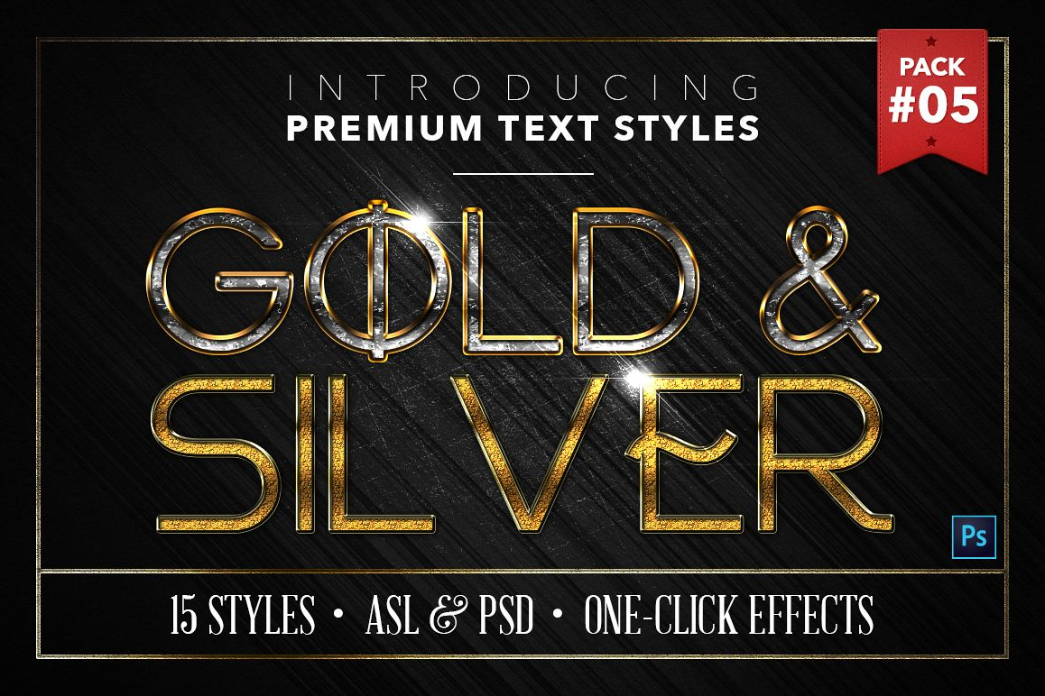 Gold & Silver #5 - 15 Text Styles example image 1