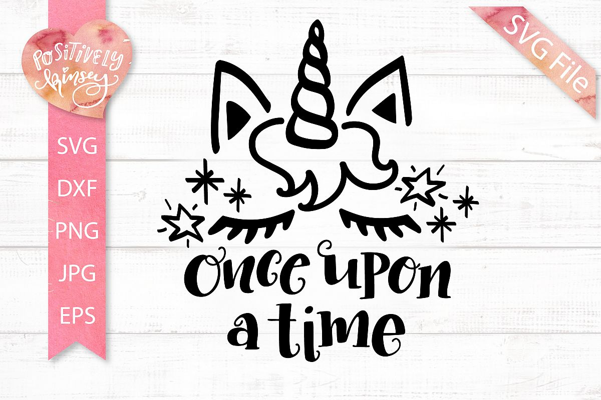 Fairy Tale Unicorn SVG Design DXF PNG Once Upon a Time SVG example image 1