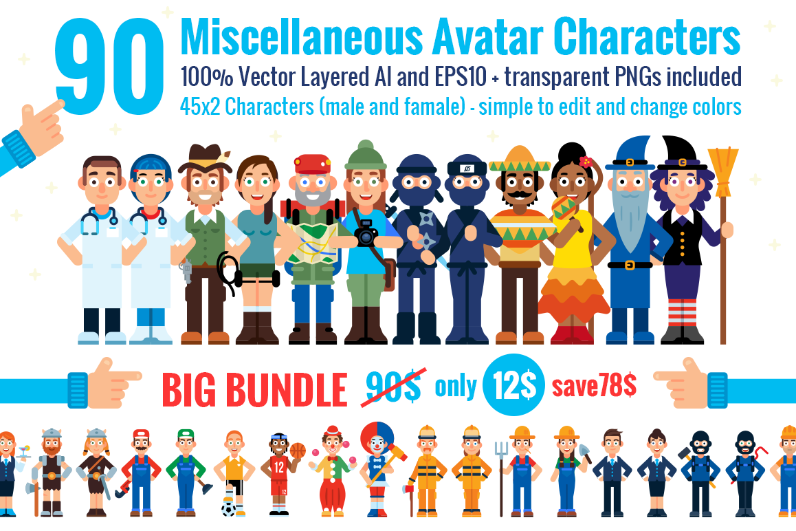 90 Miscellaneous Avatar Characters example image 1