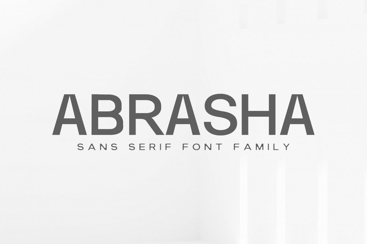 Abrasha Sans Serif Font Family example image 1