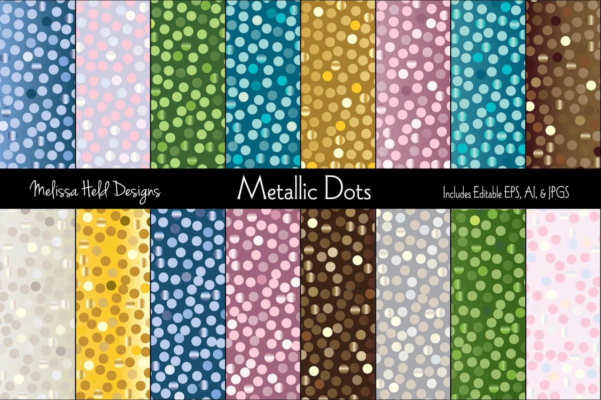 Random Metallic Dot Patterns example image 1