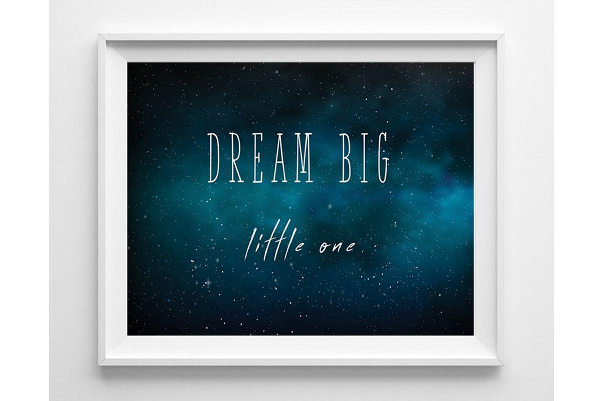 Space Nursery Decor, Nursery Prints Boy, Dream Big example image 1