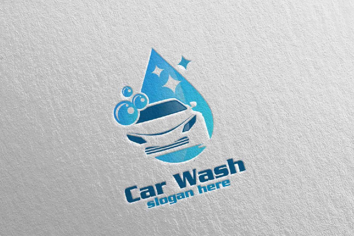 car wash logo	  Car Wash Logo, Cleaning Car, Washing and Service Logo 3
