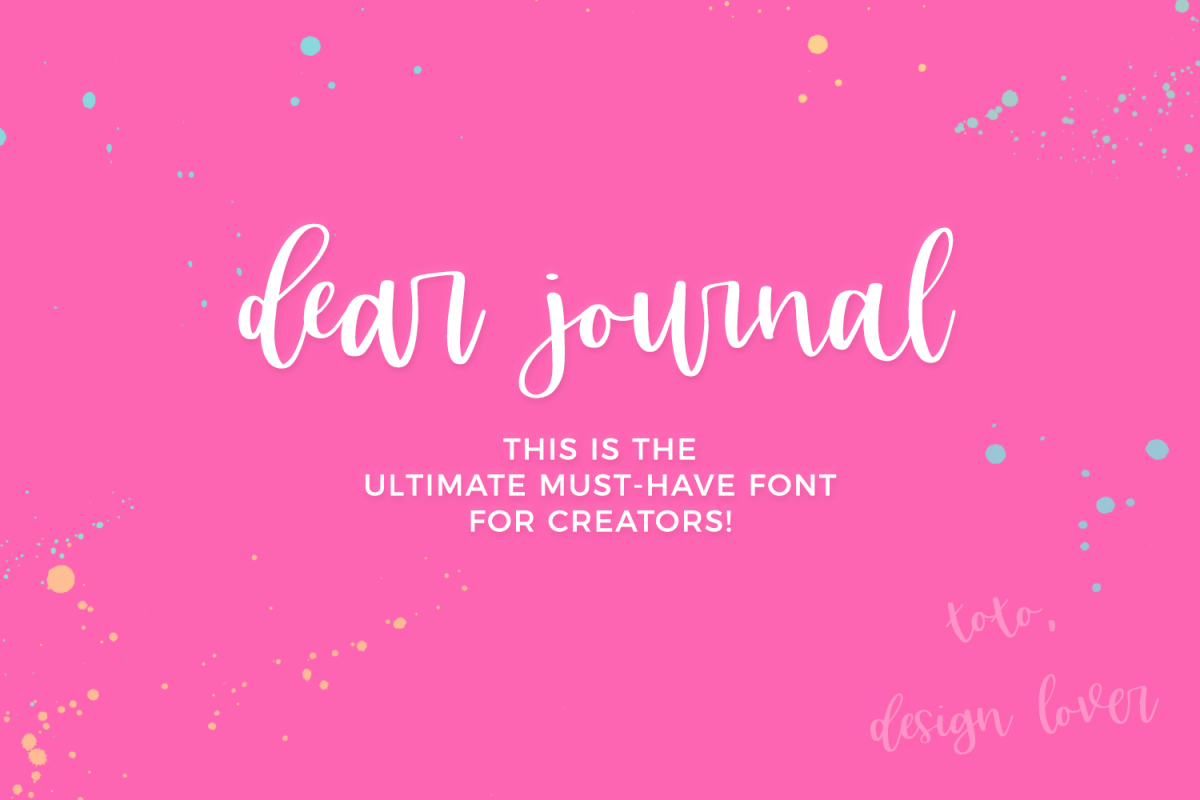 Dear Journal Calligraphy Font example image 1