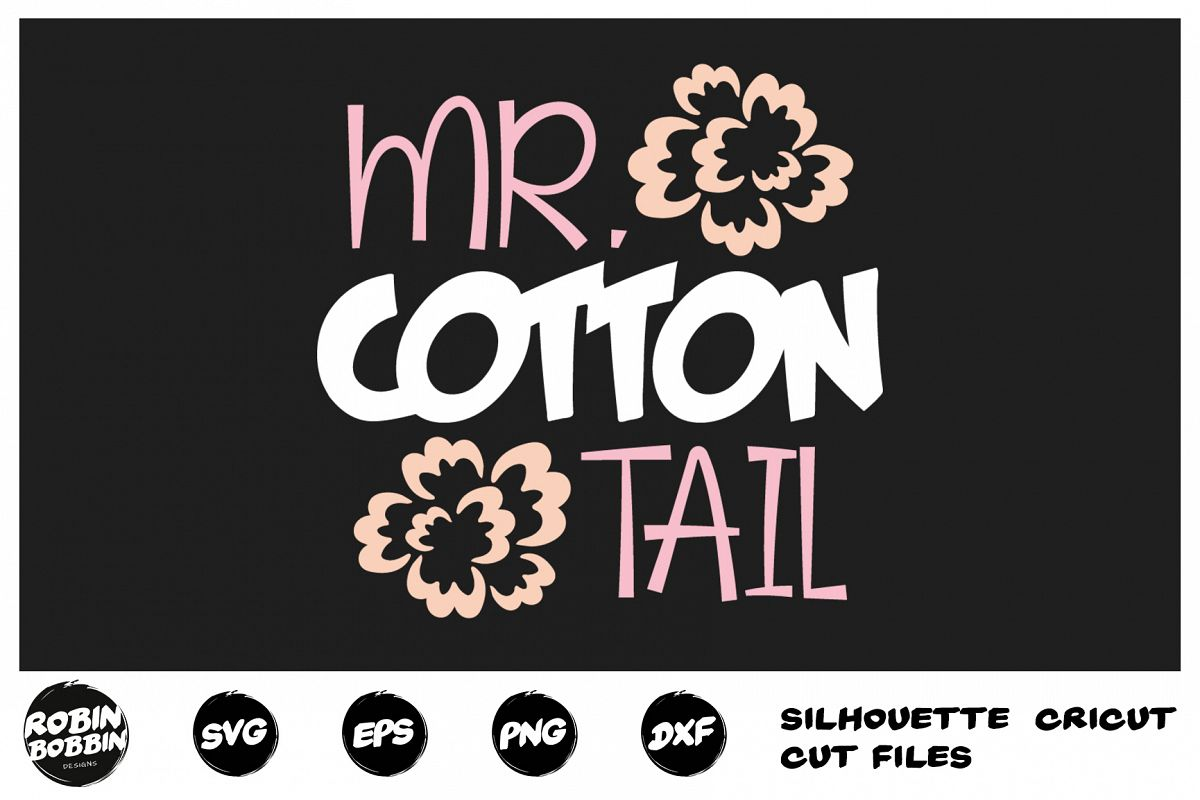 Easter svg, Mr. Cotton Tail svg, Baby Boy Easter svg example image 1