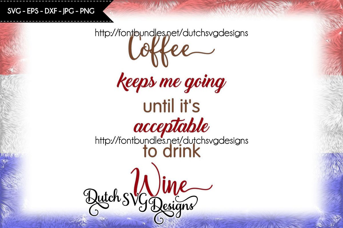Text cutting file Coffee / Wine example image 1