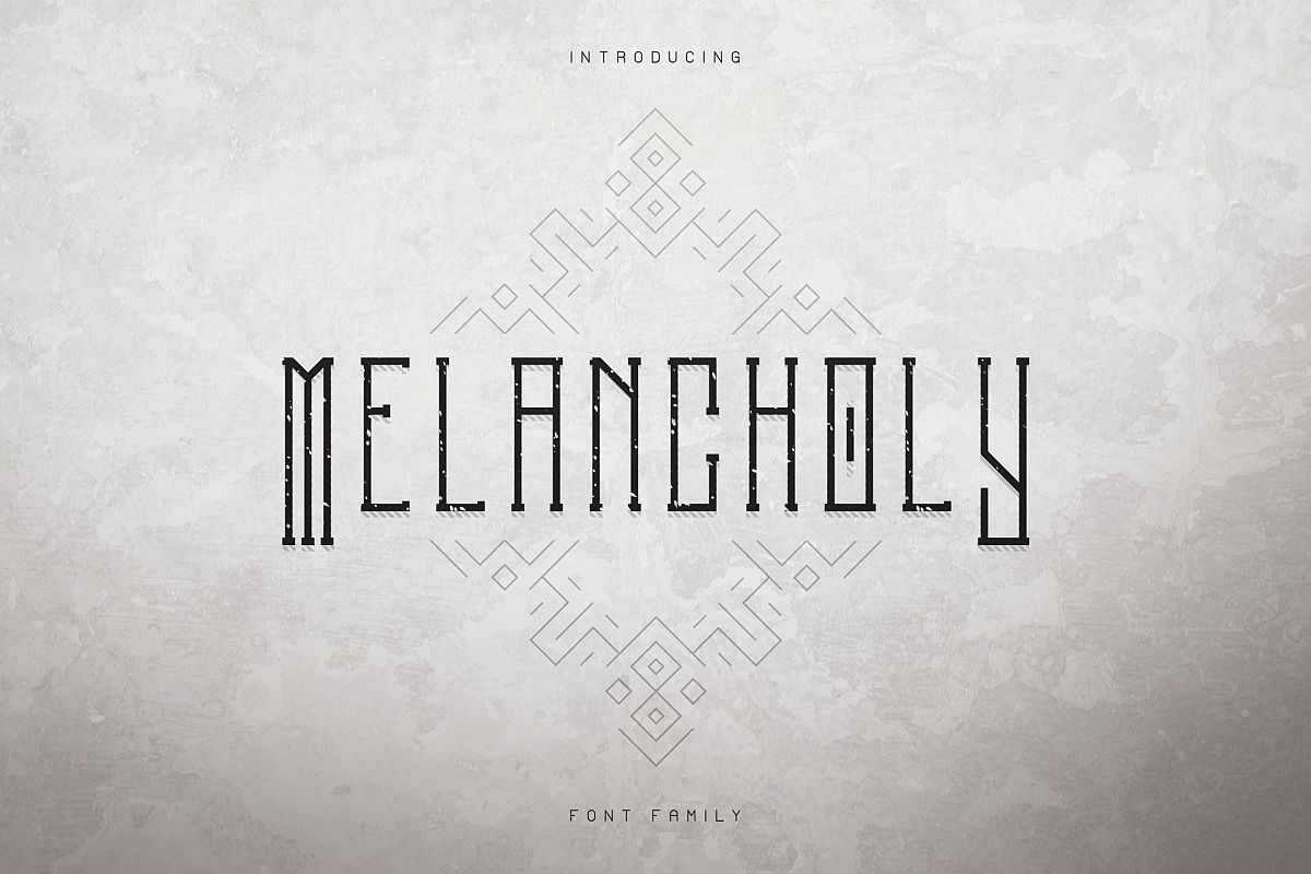 Melancholy Display Typeface Extra example image 1