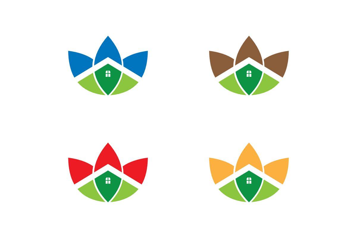 eco house logo example image 1