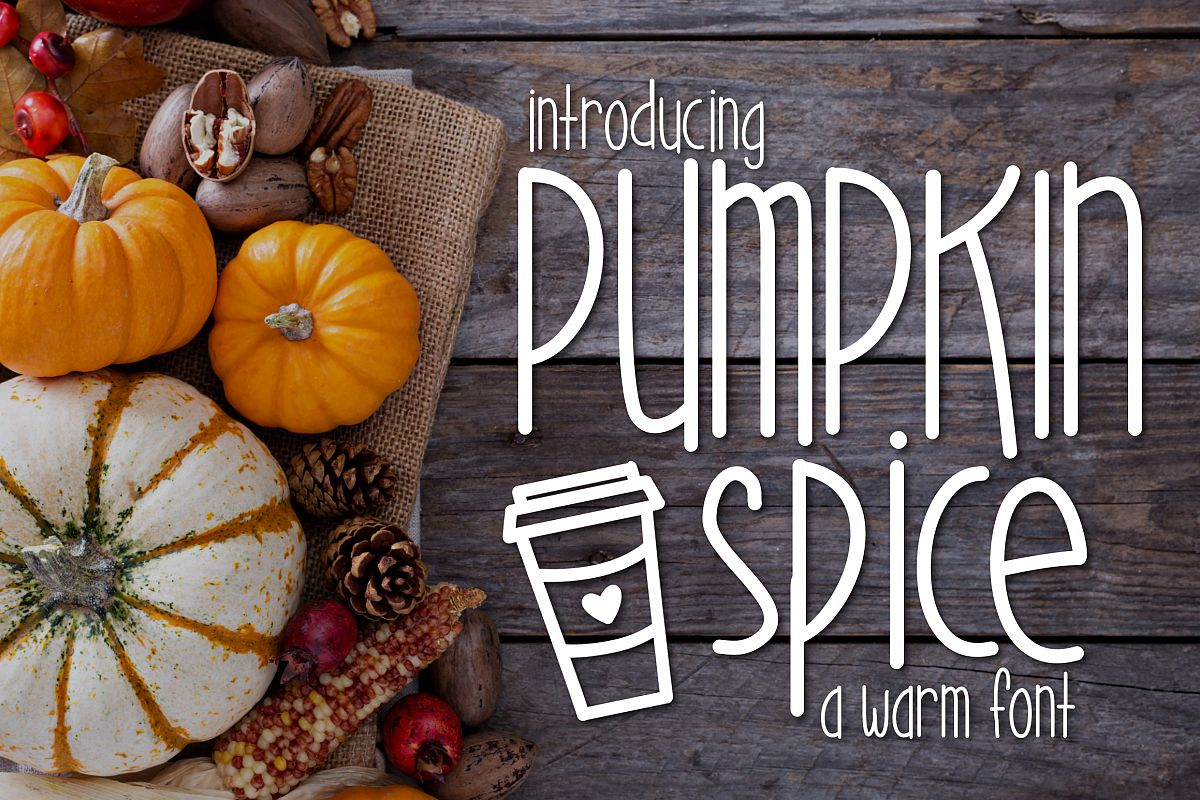 Pumpkin Spice a Warm Font example image 1