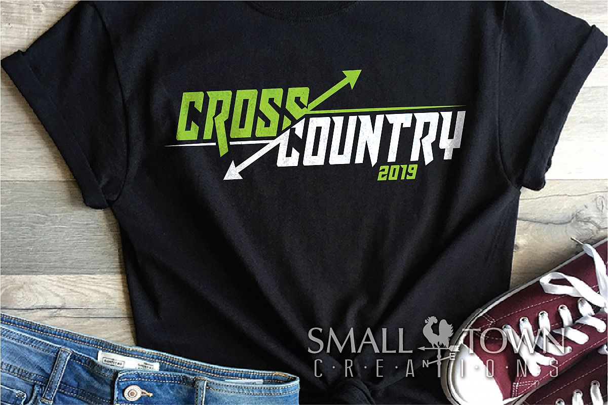 Cross Country, Running logo, Team, PRINT, CUT & DESIGN example image 1