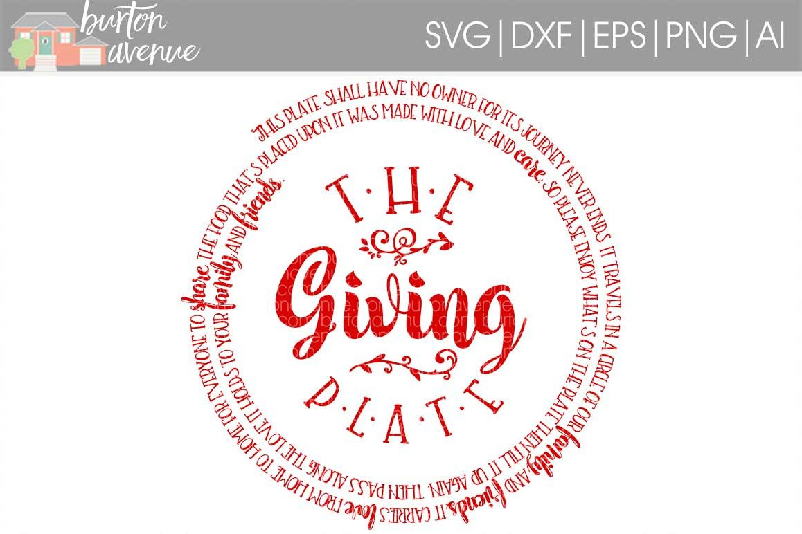 The Giving Plate cut File - Thanksgiving SVG DXF EPS AI PNG example image 1