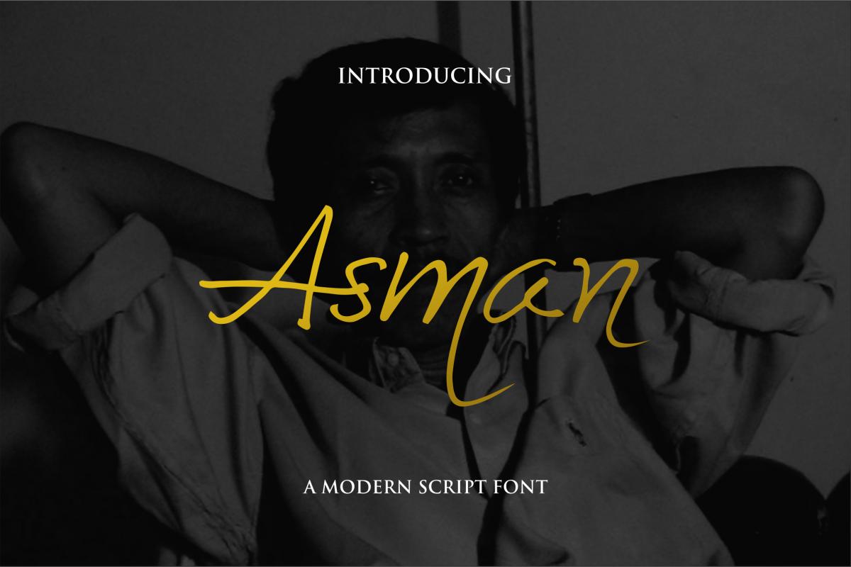 Asman Script example image 1