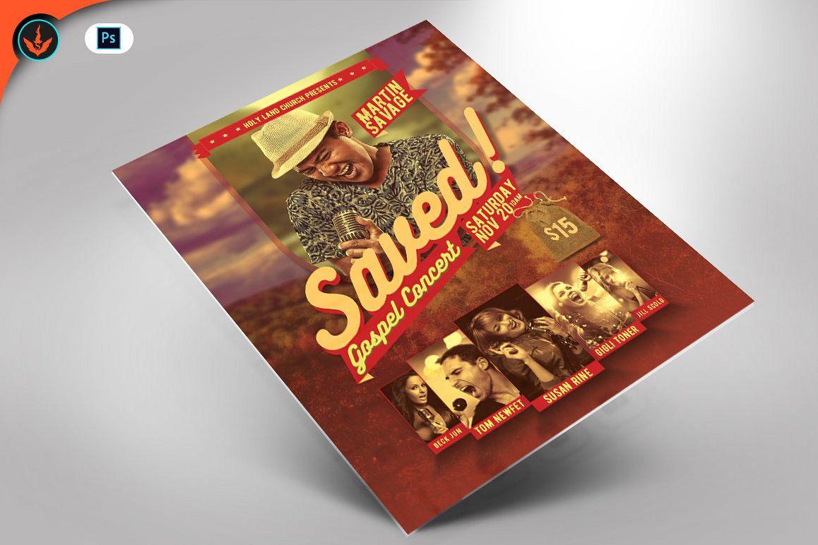 Saved Gospel Concert Flyer Template example image 1