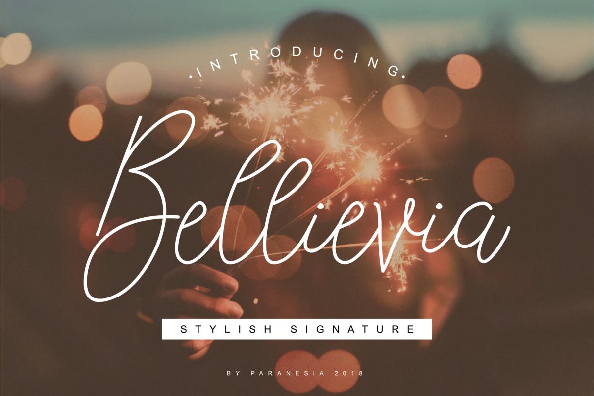 Bellievia Script Font example image 1
