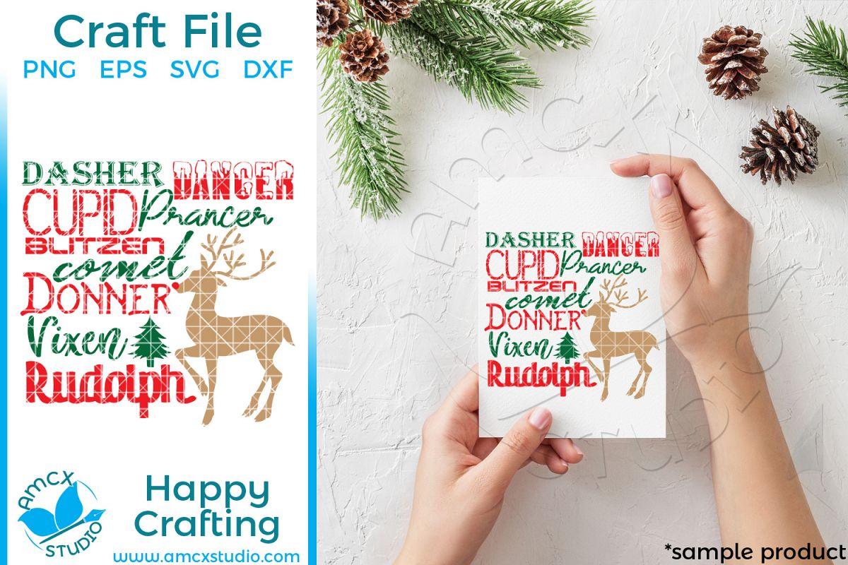 Santa's Reindeer SVG example image 1