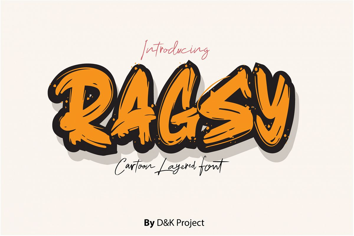 Ragsy | Cartoon layered font example image 1