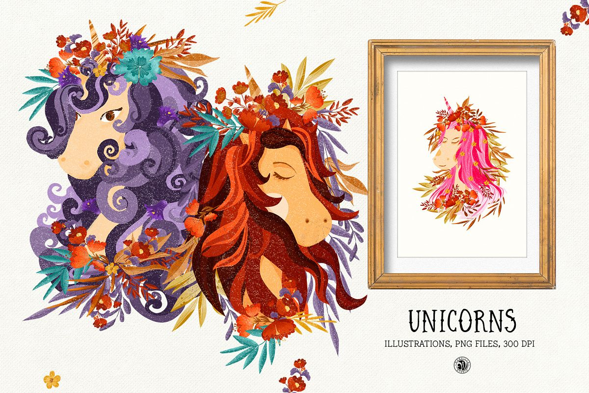 Unicorns Illustrations example image 1