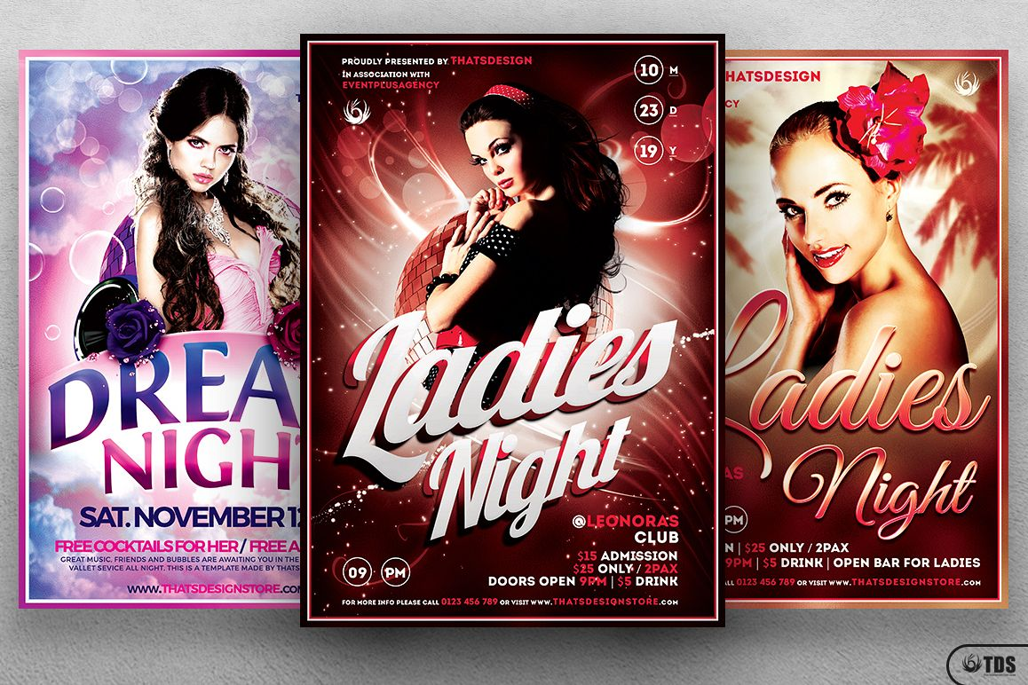 Ladies Night Flyer Bundle V1 example image 1
