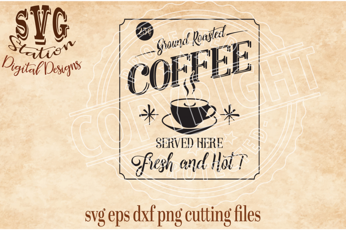 Ground Roasted Coffee Cut File example image 1