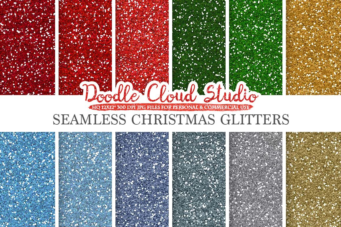 SEAMLESS Christmas Glitter digital paper, Colorful winter sparkling Background, holiday snow sparkles, Instant Download, Commercial Use example image 1