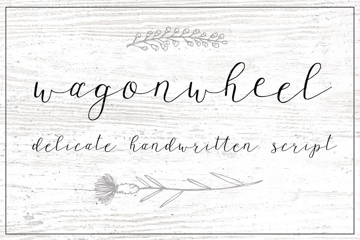 Wagonwheel Delicate Handwritten Script Font example image 1
