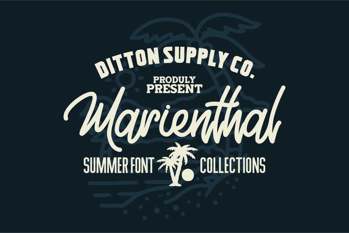 Marienthal Font Bundle Extras! example image 1