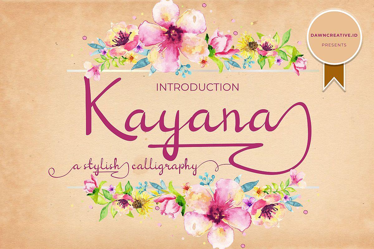 Kayana Script example image 1