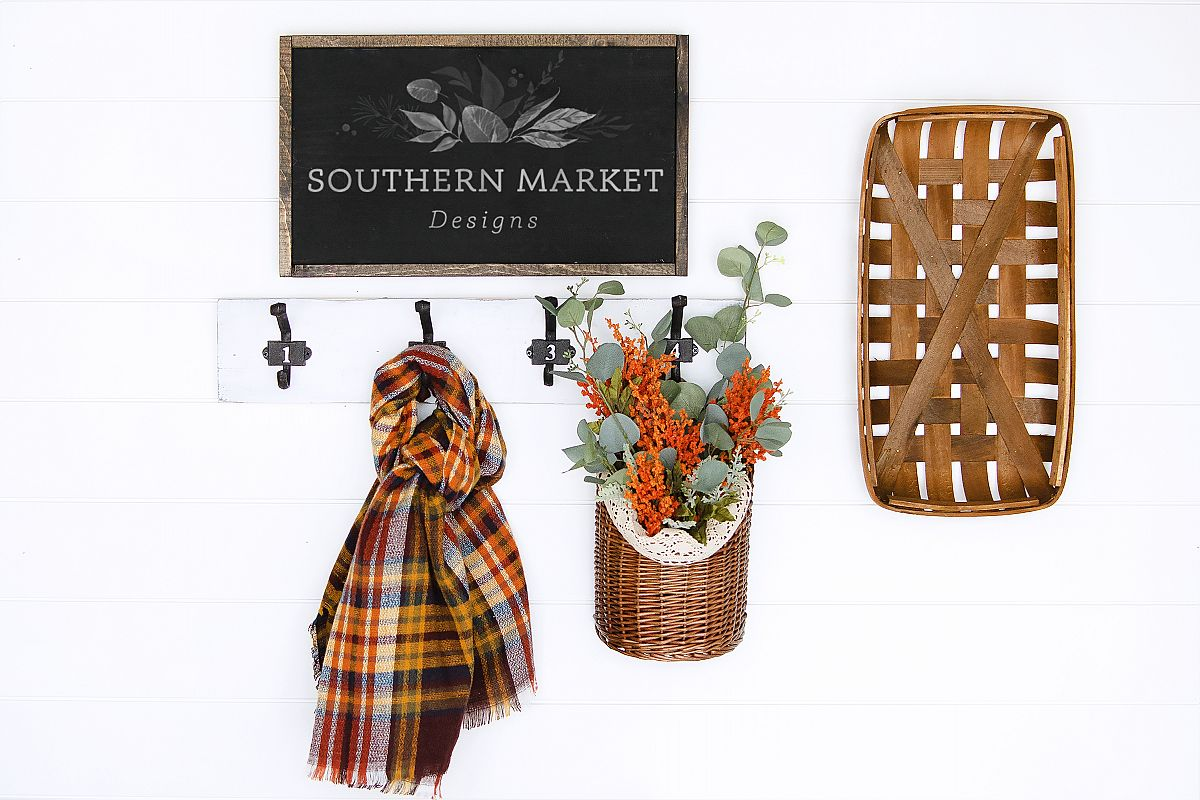 Fall Stained 12x20 Wood Sign Mock Up Stock Photo example image 1