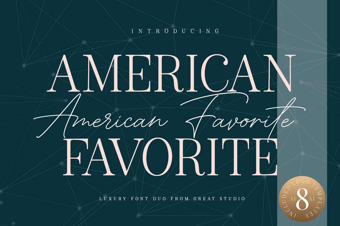 American Favorite - Luxury Font Duo example image 1