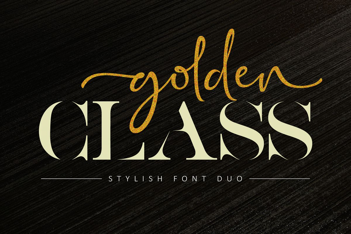 Golden Class Font Duo example image 1