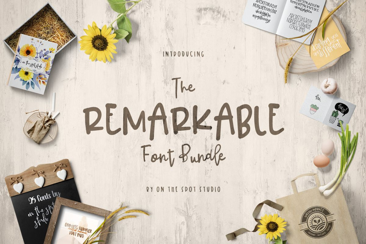 The Remarkable Font Bundle example image