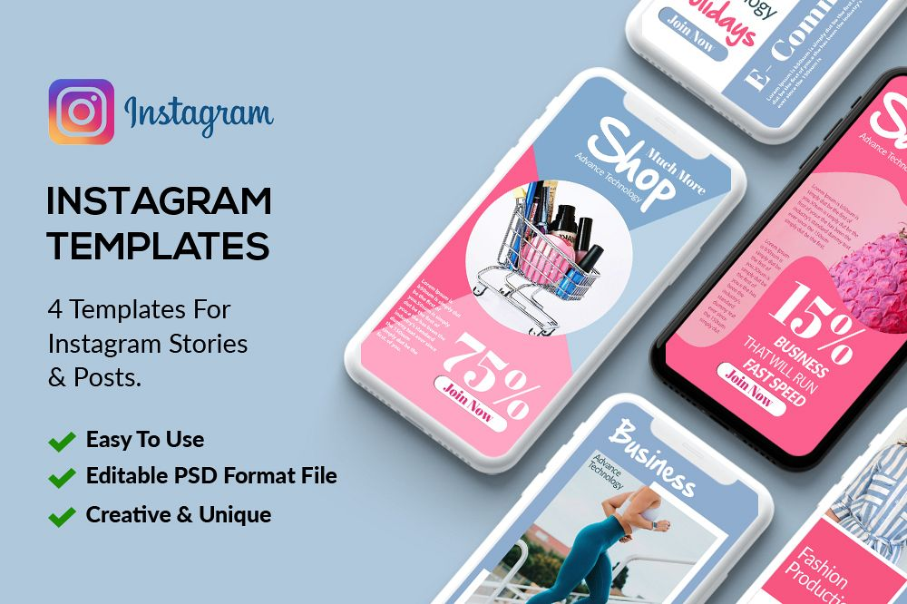 4 Instagram Stories - Product Sale example image 1