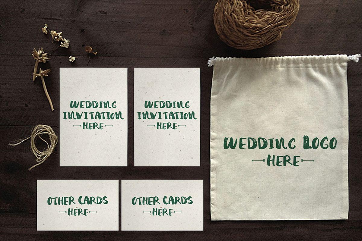Wedding Invitation Mockup example image 1