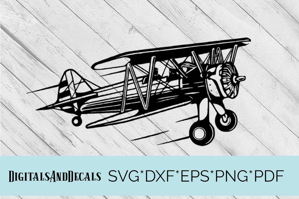Vintage Aeroplane / Airplane  SVG Cutting File  example image 1