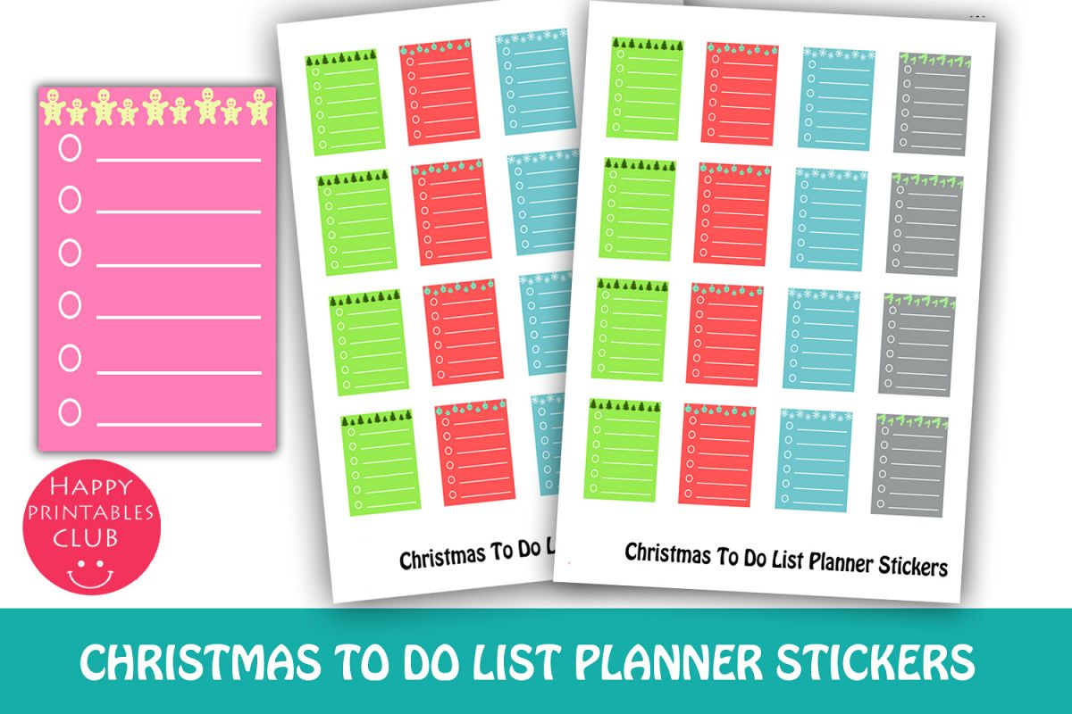 Christmas To Do List Planner Stickers-Christmas Stickers example image 1