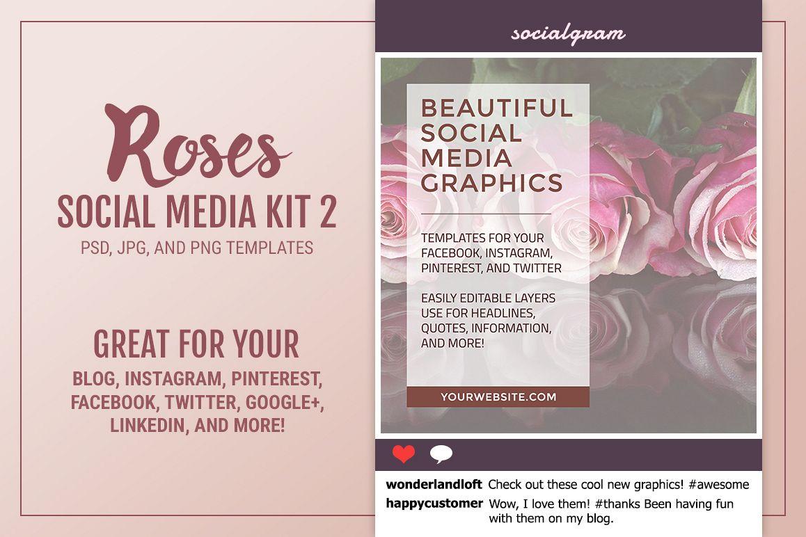 Roses Social Media Kit 2 example image 1