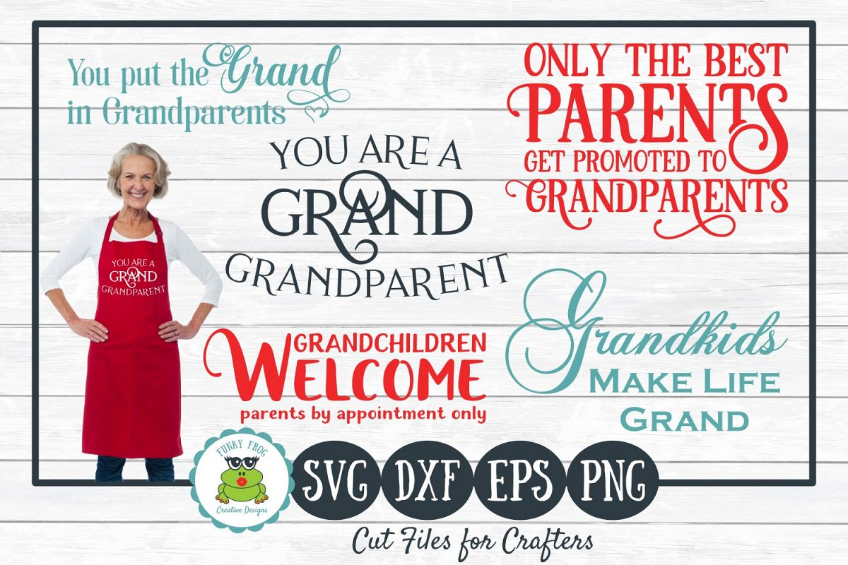 Grandparent Designs Bundle, SVG Cut Files for Crafters example image 1