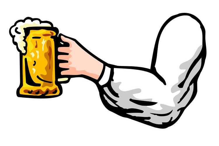 hand holding beer mug viewed from side example image 1