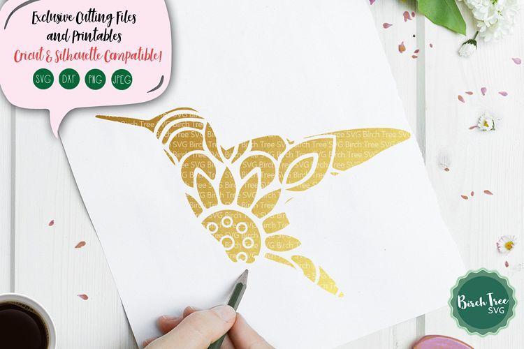 Hummingbird Mandala SVG Cut File, Hummingbird SVG, Bird Svg example image 1