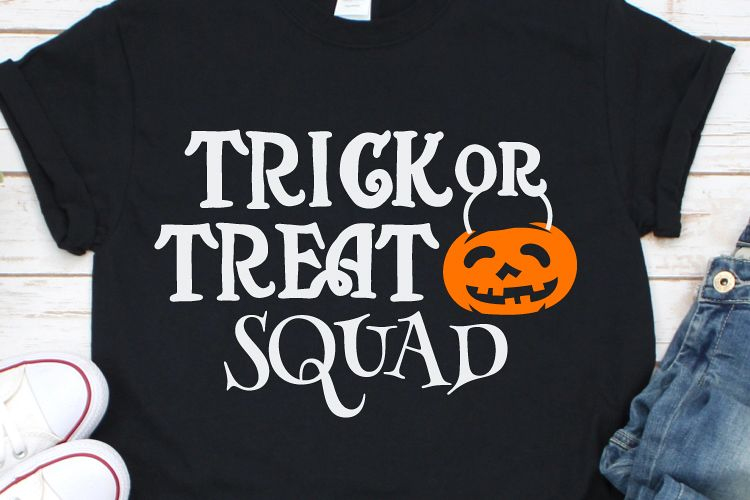 Trick or Treat Squad Svg, Halloween Svg, Pumpking Svg example image 1