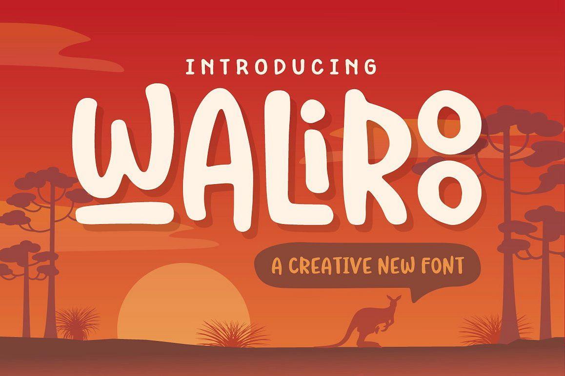 Waliroo Font example image 1
